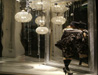Retail Christmas window display featuring Silver mirror