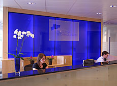 Reception partition • AIR-board • Dark Blue