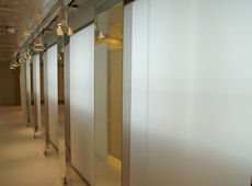 Partitions in ladies changing rooms area • AIR-board • Satin Opal