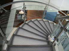 Retail interior - staircase treads • clear-PEP Stage