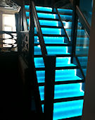 Restaurant interior - staircase treads • clear-PEP Stage